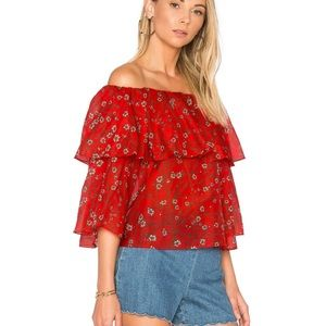 Alice and Olivia Off-Shoulder Peasant Blouse